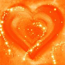 Herz orange von Christine Bässler
