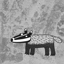 Badger Looking Cool Wildlife Illustration by Nic Squirrell