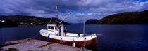 fischerboot im hafen von groensfjord, lenefjorden by helmut-krauss-panorama