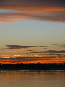 Vat Phou, Sonnenuntergang am Mekong von pictaria