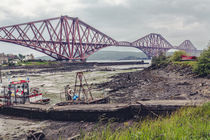 Forth Rail Bridge at Low Tide by Daniel Walsh