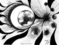 big bang : flammes noires  ( black flames  ) by Serge Sida