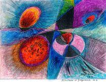 big bang :nébuleuses et fulgurance no 2 ( nebulas and lightning no 2 ) von Serge Sida