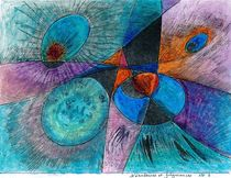 big bang :nébuleuses et fulgurance no 3 ( nebulas and lightning no 3 ) by Serge Sida
