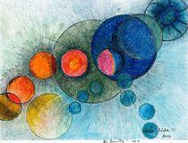 big bang  :chapelet de planètes  ( chaplet of planets ) by Serge Sida