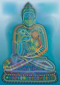Green Rainbow Buddha by Bernd Wachtmeister