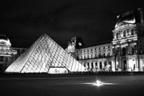 The Louvre Musem Black and White by Kelsey Horne