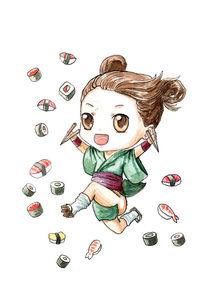 Sushi Girl von freeminds