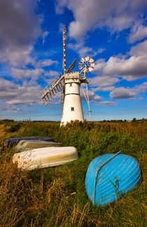 Thurne Dyke Windpump, Norfolk by Louise Heusinkveld