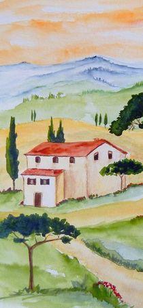 Toskana-Stille und Harmonie 3 von Christine Huwer