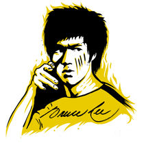 bruce lee by creatively