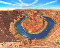 Horseshoe Bend, Colorado River, Arizona von Richard Harpum