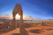 Sunset at Delicate Arch, Utah von Richard Harpum