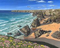 Evening Light, Bedruthan Steps, Cornwall by Richard Harpum