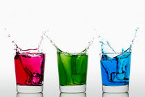 Stock-2-red-green-blue-splashing-ice-cubes