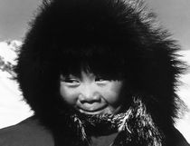 Vintage USA Alaska eskimo child 1970s by blackwhitephotos