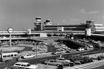 BW Germany Berlin The Tegel Airport 1970s by blackwhitephotos