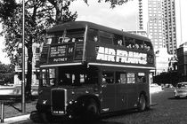Vintage UK England London double decker bus 1970s by blackwhitephotos