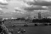 BW UK England London The River Thames 1970s von blackwhitephotos