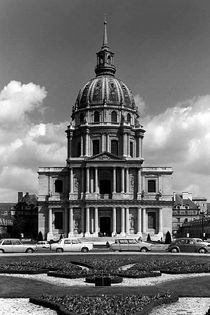 BW France Paris Church Saint Louis des Invalides 1970s by blackwhitephotos