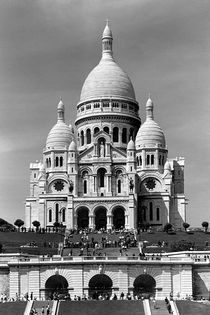 BW France Paris The Sacre Coeur Basilica 1970s