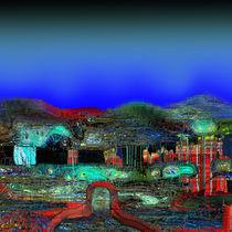 The Village Gate  by Helmut Licht