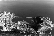 BW Principality of Monaco overview 1970s von blackwhitephotos