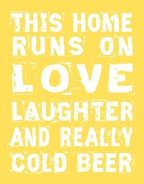 Love and Cold Beer Poster von friedmangallery
