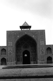 BW Iran  Isfahan west iwan Imam Mosque 1970s by blackwhitephotos