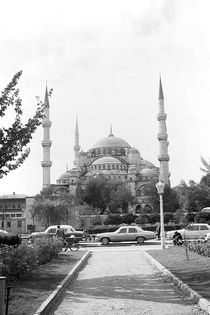 BW Turkey Istanbul The Blue Mosque 1970s by blackwhitephotos