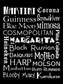 Favorite Drinks Subway Art Poster by friedmangallery