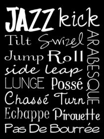 Jazz Dance Subway Art  Poster by friedmangallery