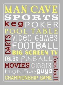 Man Cave Subway Art Poster by friedmangallery