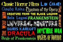 Classic Horror Films Poster von friedmangallery