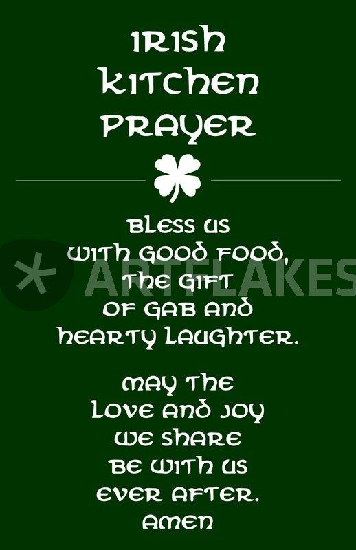 Irish Kitchen Prayer Poster Digital Art Art Prints And Posters By Friedmangallery Artflakes Com