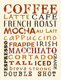 Coffee Poster von friedmangallery