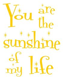 Sunshine of My Life Poster von friedmangallery