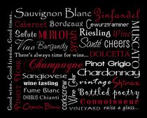 Wine Theme Poster von friedmangallery