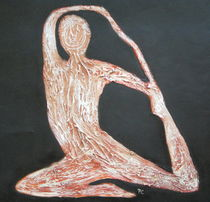 yoga pose on black by patricia  cleasby