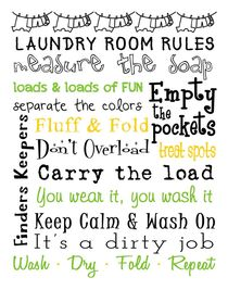 Laundry Room Rules Poster von friedmangallery