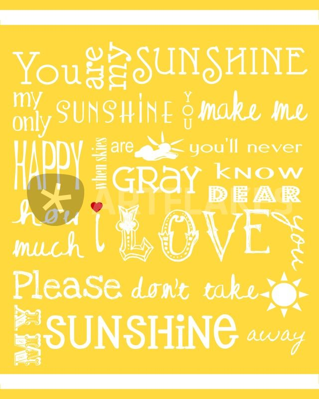 You Are My Sunshine2