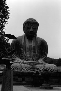 BW Japan Kamakura Great Buddha 1970s by blackwhitephotos
