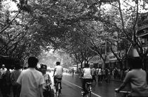 China Shanghai street 1970s by blackwhitephotos