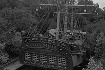 BW USA California Disneyland The Columbia 1970s by blackwhitephotos