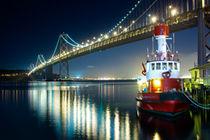 Bay Bridge and Boat von Tanel Teemusk