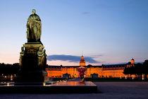 Karlsruhe Palace at night von dreamtours