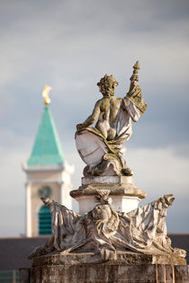 Statue at Karlsruhe Palace by dreamtours