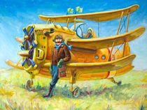 Pilot and his plane von Oleksiy Tsuper