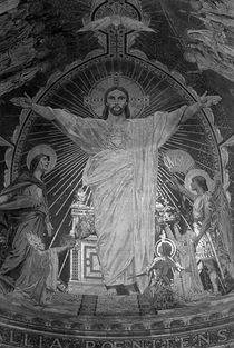 BW France Paris Sacre Coeur Basilica dome Jesus 1970s by blackwhitephotos