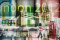 London - Go for Gold - Collage von hannes cmarits